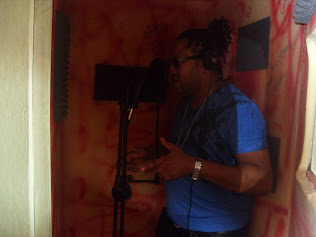 Alozade in Dialtone Studio Recording Booth