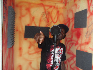 Trinity in Dialtone Studio Recording Booth