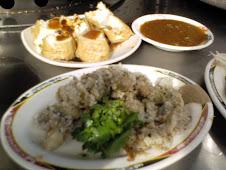 台北市汀州路肉粥e炸蚵與炸豆腐