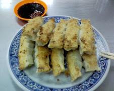 基隆慶安宮旁之絕佳香脆美味鍋貼
