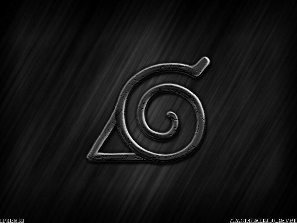 hidden leaf, naruto, konoha symbol, wallpaper