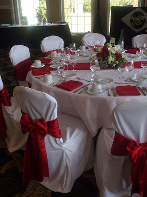 Burgundy and Ivory Another classic combination that matches our ballroom