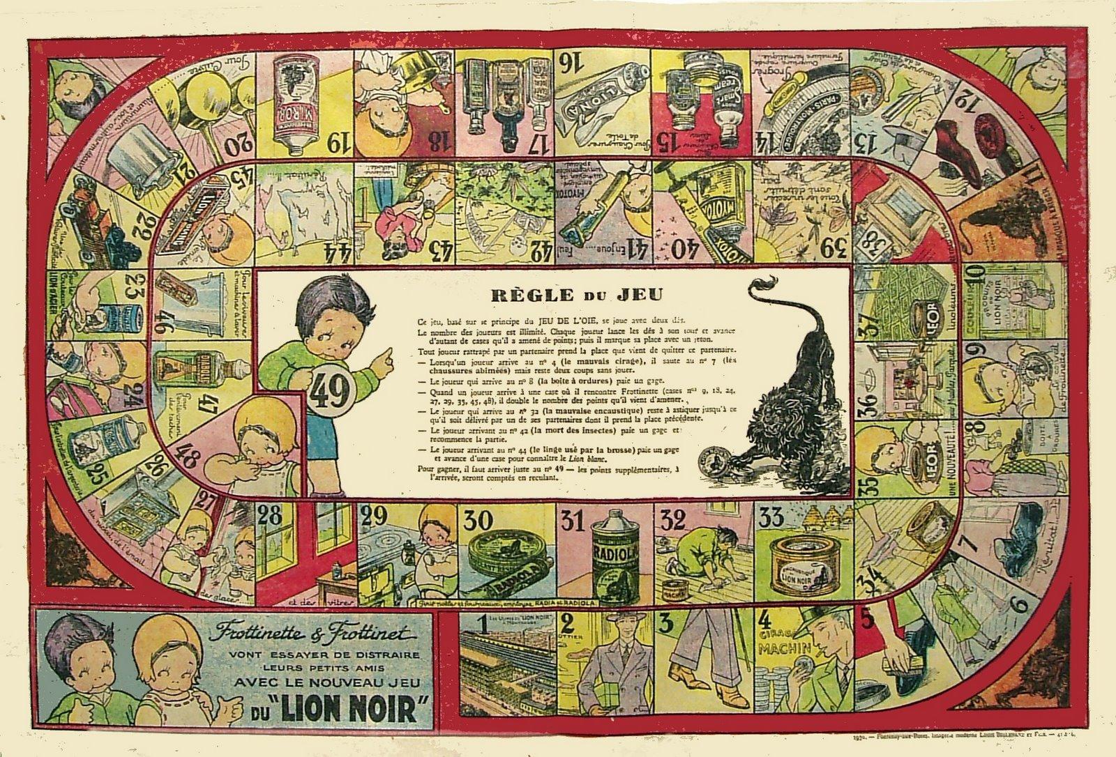 beatrice mallet imagi re lion noir jeu de l 39 oie mallet beatrice. Black Bedroom Furniture Sets. Home Design Ideas