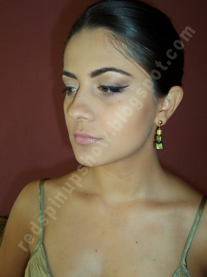 pin up eye makeup. did first the eye make up,