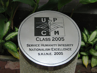 Time capsule marker of our class, due to be opened in 2030.