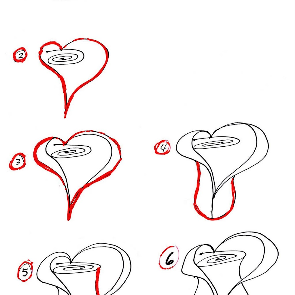 Love Heart Images To Draw