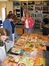 encaustic collage workshop 1/10/09
