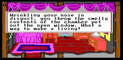 Kings Quest 3 chamber pot, Resigned Gamer