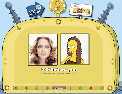 simpsonize me, madonna