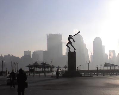 katyn massacre statue, exchange place, resigned gamer
