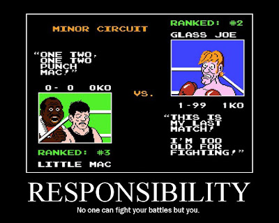 punchout punch out motivational poster nes resigned gamer