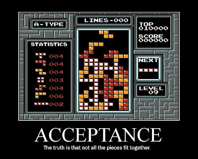 tetris motivational poster, nes, resigned gamer