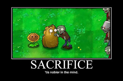 plants vs zombies motivational poster, resigned gamer