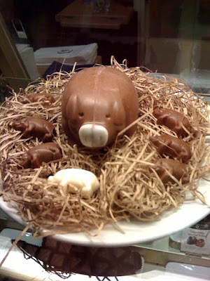 Chocolate piggies on TwitPic