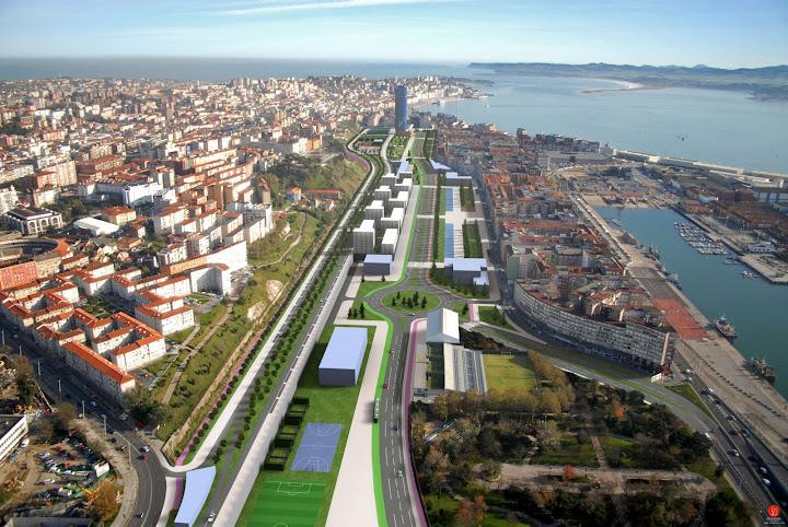 soterramiento vías Santander