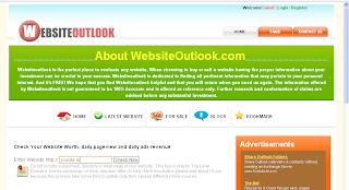 Сервис для определения домена Websiteoutlook