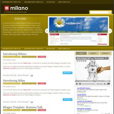 101 awesome free blogger templates welcome to vip screen clean milano flashek Image collections