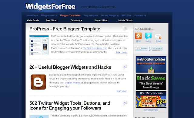 blogger widgets deutsch