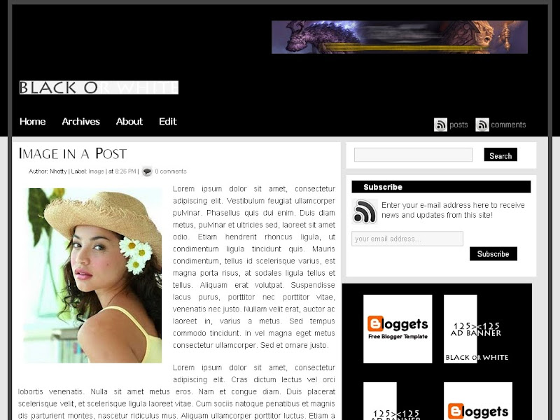 Blogger Template - Black or White