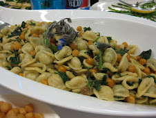 Orecchiette with Chickpeas & Borage