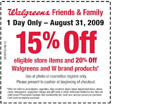 Walgreens: 15% off Coupon Valid TodayONLY!