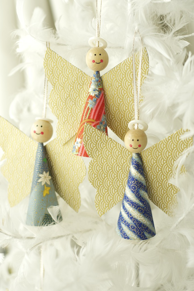 Christmas Crafts Paper Angels : Omiyage s diy paper angels