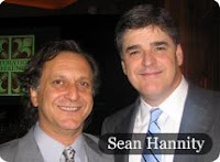 Evan Sayet poses with Sean Hannity