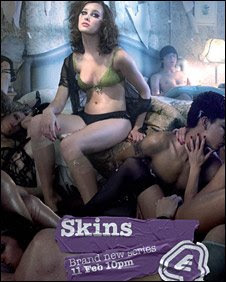 England Channel 4 ordered to remove promotional poster for teen drama Skins for depicting orgy