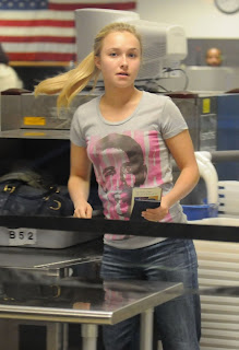 Hayden Panettiere wears Barack Obama shirt at LAX
