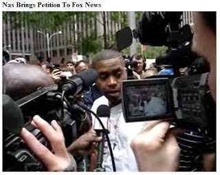 Rapper Nas calls on Fox News to stop racist smears against the Obama family and black America - Photo courtesy of Pizon Channel