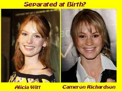 Alicia Witt and Cameron Richardson appear separated at birth