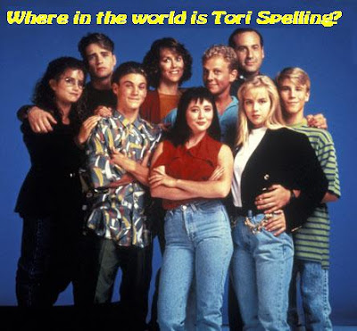 Tori Spelling is conspicuously absent from the original cast of Beverly Hills 90210