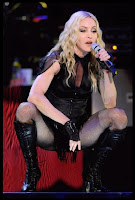 Madonna strikes a sexy pose on her Sticky and Sweet World Tour - Photo courtesy of Mad News