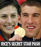 Michael Phelps and Stephanie Rice were caught making out at the Beijing Olympics - Photo courtesy of Perth Now