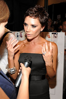 Victoria Beckham with roadkill pixie do makes me want to gag