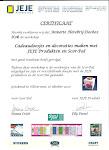 Certificaat Scor-Pal en JEJE produkten