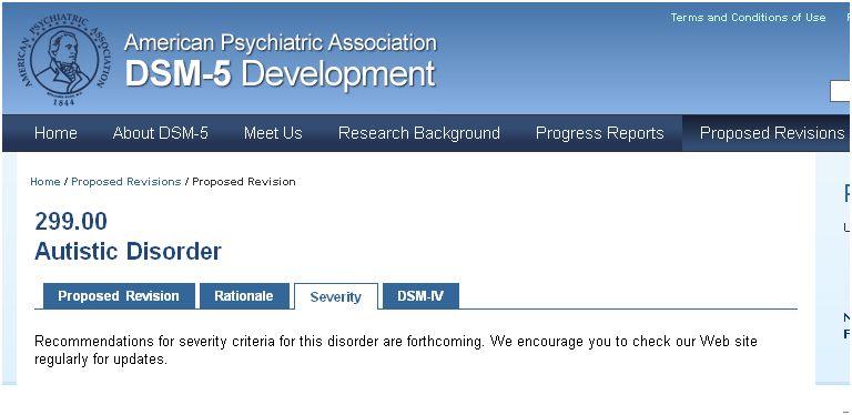 DSM-5 Autistic Disorder