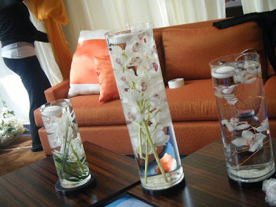 another glimpse of the submerged orchid centerpieces