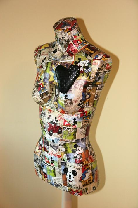 La papelera de julia maniqu reciclado - Perchero maniqui ...