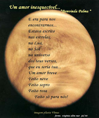 Poesia de amor -Benvinda Palma