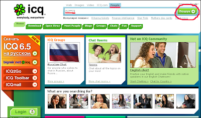 Поиск по ICQ-профилю