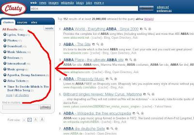 Скриншот запроса [abba]