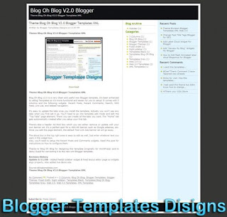 Theme Blog Oh Blog V2.0 Blogger Templates XML