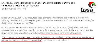 saramago anti-patriota e ordinário, monkey and bad atheism