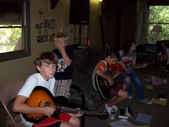 The Next Generation practicing guitar