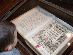 Ashton checking out the German Bible