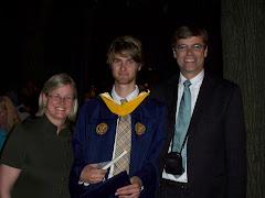 Josh with proud parents