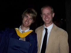Josh with proud brother Adam