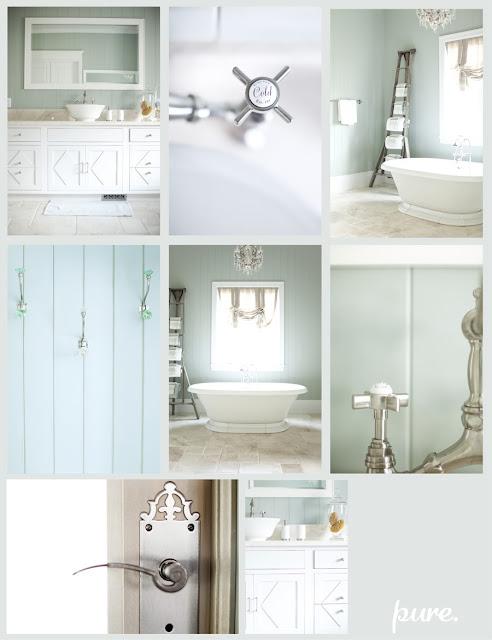 D cor de provence my blue green home for Sea green bathroom accessories