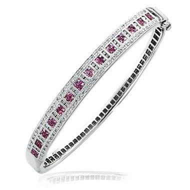 Pink Sapphire Bangle Bracelet